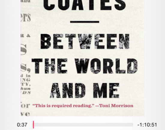 Ta-Nehisi Coates, ipod, Audiobook