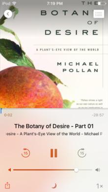 audiobook, A plan'ts-eye view of the world, Michael Pollan