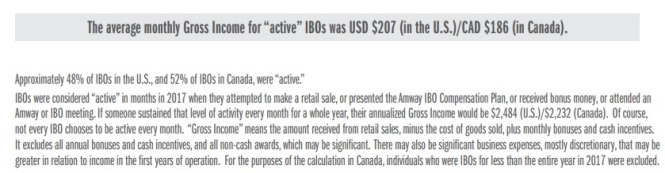 Amway, brochure, income