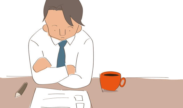office worker, stressed man