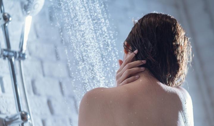 woman bathing,